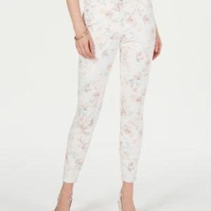 Style & Co Floral-Print Skinny Jeans